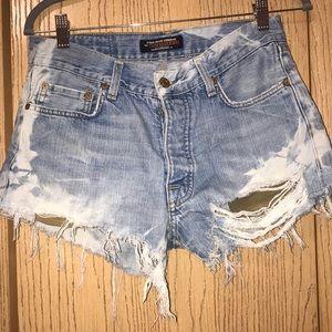 Distressed Polo Cutoff Shorts